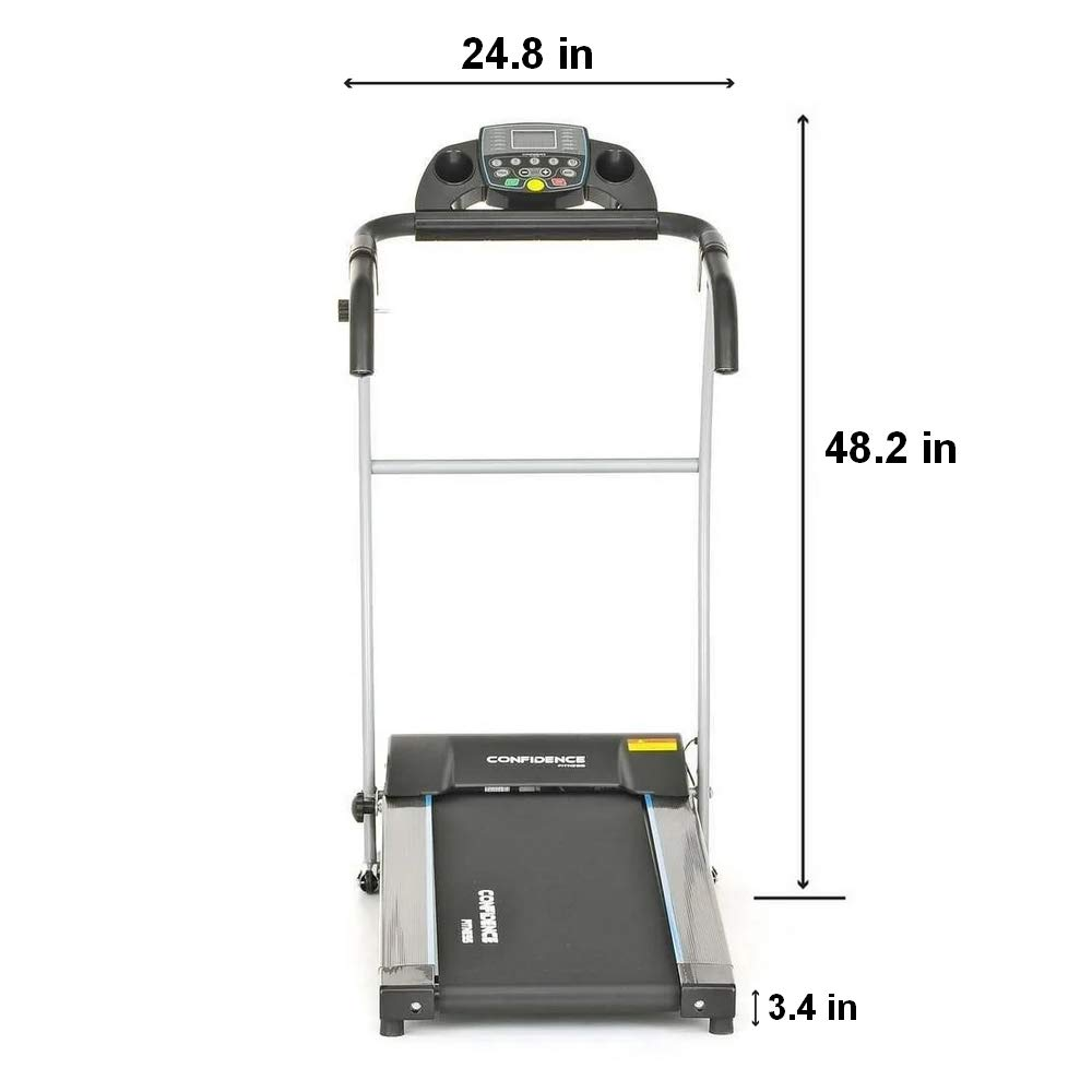 Confidence Fitness TP-1 Electric Treadmill Folding Motorised Running Machine by Confidence (Image #2)