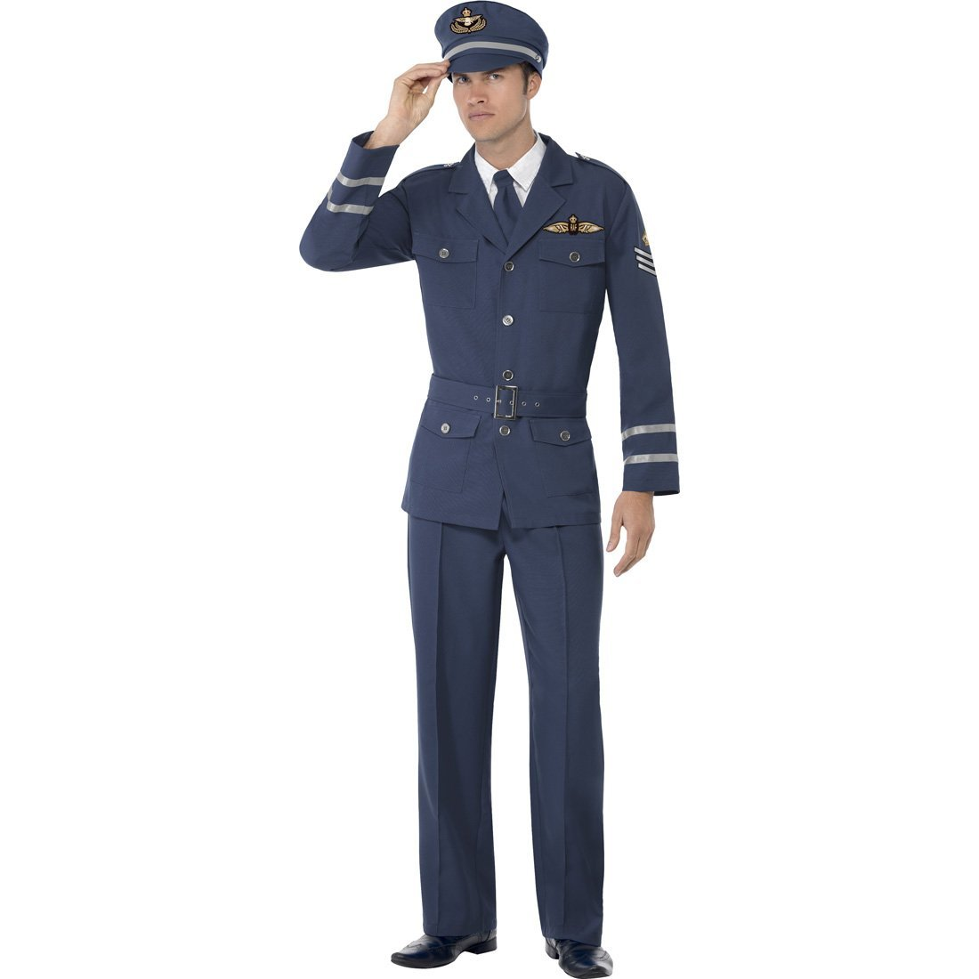 NET TOYS Pilota aereo aviatore Air Force abito uomo capitano maschera