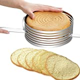 Funnytoday365 Stainless Steel Cake Cutter Slicer Adjustable Round Bread Cake Cutter Slicer Cake Ring Mold Diy Baking Tools Kitchen Accessoires