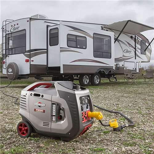 Stratton & Briggs Level - Briggs & Stratton 30545 P3000 PowerSmart Series Portable 3000-Watt Inverter Generator with (4) 120-Volt AC Outlets and (1) 12-Volt DC Outlet