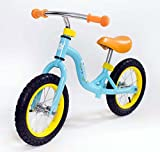 RICCO Balance Bike with Air Wheels for 3-6 Year Olds (LIGHT BLUE)