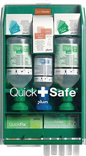 Plum QuickSafe Complete Erste Hilfe Station mit Augenspülflaschen, Pflaster, Brandgel usw.