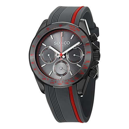 So and Co New York Men's Rubber Strap Watch