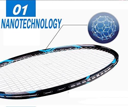 Senston - High Grade 2 Player Graphite Badminton Racket Set - Including 1 Badminton Bag/2 Rackets/2 Grip(red+Yellow) by Senston (Image #4)