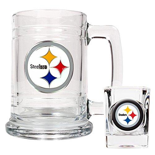 NFL Pittsburgh Steelers Boilermaker Set (Primary Logo)