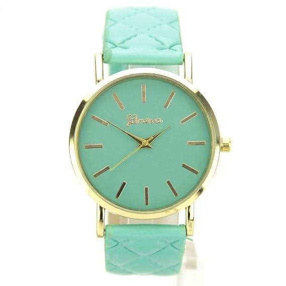 Reloj Geneva Correa acolchada verde My-Montre