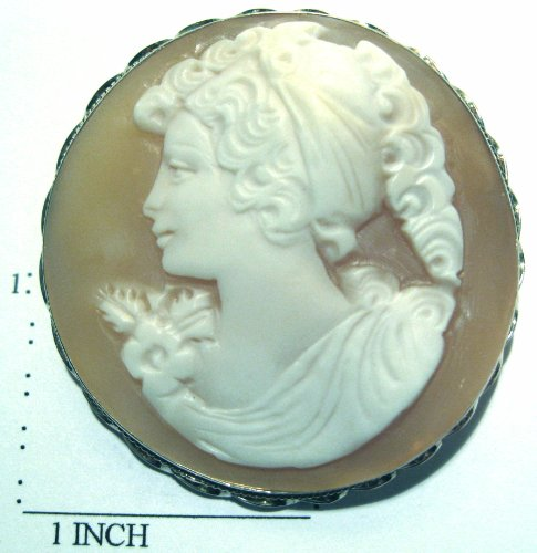 Cameo, Brooch, Pendant, Summer Love, Italian, Master Carved, Conch Shell, by cameosRus (Image #4)