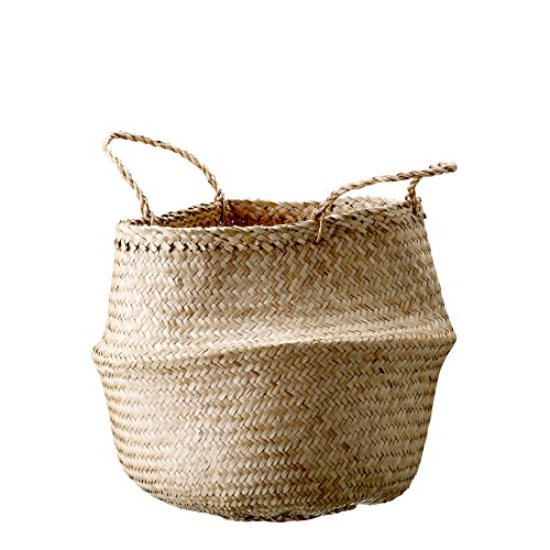 Bloomingville A928004 Natural Seagrass Basket with Handles, Medium