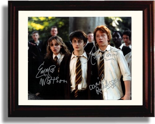 Framed Harry Potter Cast Autograph Replica Print - Harry Potter