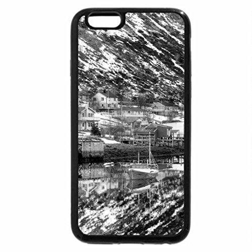 iPhone 6S Plus Case, iPhone 6 Plus Case (Black & White) - magnificent river village in norway