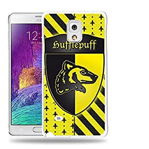 Case88 Designs Harry Potter & Hogwarts Collections Hogwarts Hufflepuff Sigil Protective Snap-on Hard Back Case Cover for Samsung Galaxy Note 4