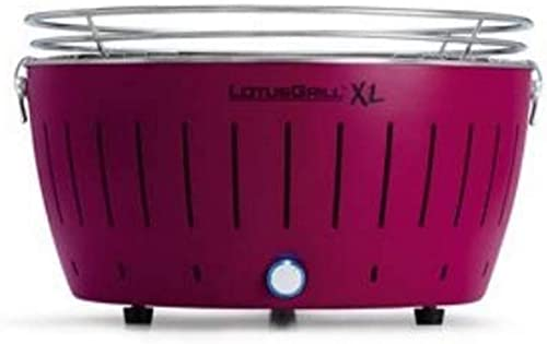 LotusGrill G-LI-435, Extra Large, Plum Purple Portable Charcoal Grill