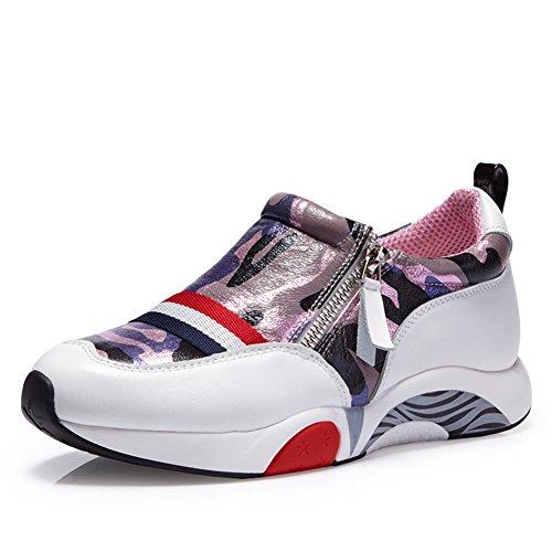 otoño mareas zapatos Camo/Versión coreana flujos aumentaron en calzado casual/ zapatos con cremallera lateral bajo A