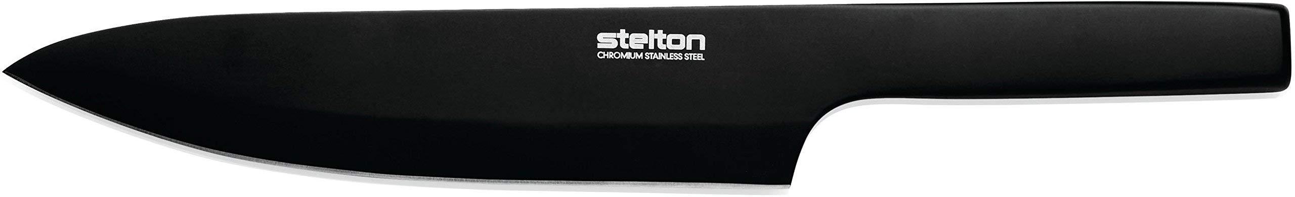 Stelton Pure Santoku Knife, Black