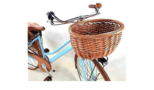 Bicicleta Mujer Vintage 28″ + Bolsas y Cesta en de Mimbre Incluso ...