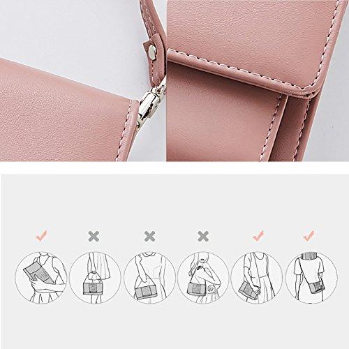 YAN Damen-Geldbörsen-Luxusweichleder-RFID, die kleine multi Geldbeutel-multi Kreditkarte-Geldbörse mit Reißverschluss-Münzen-Fach blockieren (Style : 2)