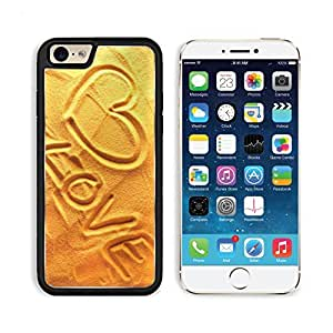 Gold Heart On The Beach Lovers Holiday Apple iPhone 6 TPU Snap Cover Premium Aluminium Design Back Plate Case Customized Made to Order Support Ready Liil iPhone_6 Professional Case Touch Accessories Graphic Covers Designed Model Sleeve HD Template Wallpaper Photo Jacket Wifi Luxury Protector Wireless Cellphone Cell Phone