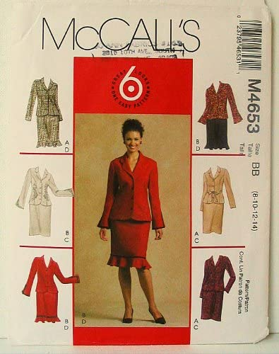 McCall/'s 4653 Misses/'//Miss Petite Unlined Jackets and Skirt   Sewing Pattern