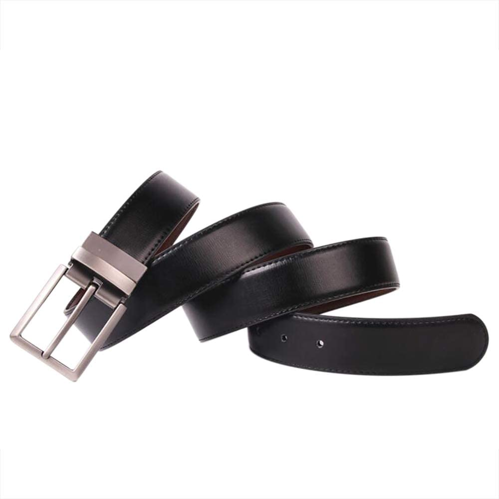 Martino Mens Prong Buckle Belt Genuine Leather Belt for Men 2 Sides Causal Belts for Men Casual Style With a Gift Box