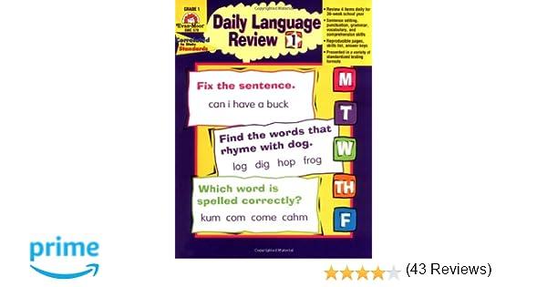 Daily Language Review, Grade 1: Evan Moor: 9781557996558: Amazon ...