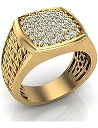 1.03 ct tw Cushion Pavé set Diamond Ring 14K Gold (J,I1)
