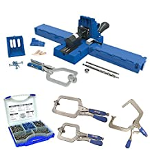 Kreg K5MS-KREG Jig K5 Master System Wood Clamp w/ Pocket-Hole Screw Kit & 3 Clamp Bundle by Kreg