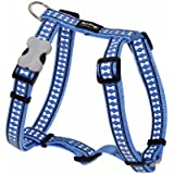 Red Dingo Reflective Safety Dog Harness, Small, Mid-Blue