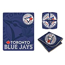 MLB Toronto Blue Jays Solid High End Super Cozy Blanket / Throw