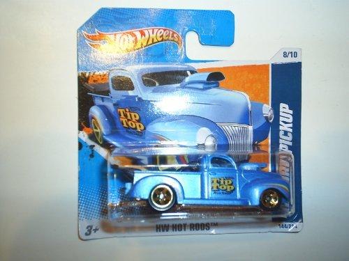 2010 Hot Wheels (Blue) '40 FORD PICKUP Truck (Tip Top Rod Shop) #144/214, HW Hot Rods #8/10 (Short (1940 Ford Hot Rod)