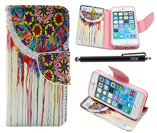 Iphone Se Case  Iphone 5S Case Wallet  Iyck Premium Pu Leather Flip Folio Carrying Magnetic Closure Protective Shell Wallet Case Cover For Iphone 5 5S Se 5Se With Kickstand Stand   Dream Catcher