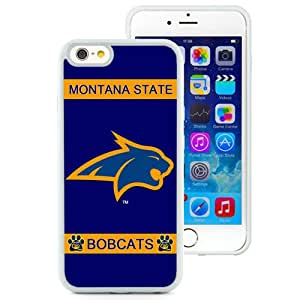 Beautiful And Popular Designed With NCAA Big Sky Conference Football Montana State Bobcats 3 Protective Cell Phone Hardshell Cover Case For iPhone 6 4.7 Inch TPU Phone Case White