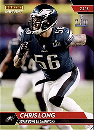 85a37fa33 Amazon.com  2018 Panini Eagles Super Bowl LII  548 Chris Long NFL Football  Trading Card  Collectibles   Fine Art