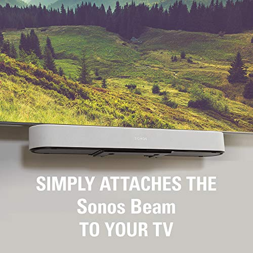 Sanus Soundbar Mount Compatible with Sonos Beam - Height Adjustable Up to 12'' & Designed to Work with Any TV - Custom Fit to The Beam for Optimal Audio Performance by Sanus (Image #1)