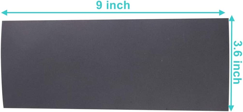 Grit of 400//600//800//1000//1200//1500//2000 Abrasive Paper Sheet 9 x 3.6 inch Abrasive Wet and Dry Waterproof Sandpaper Sheets Assorted for Furniture Hobbies and Home Improvement