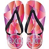 omega sandals - Alpha Chi Omega Flip Flops (Large)