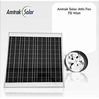 Amtrak Solar 70 Watt Solar Attic Fan Amazon Com