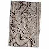 3dRose Danita Delimont - Cindy Hopkins - Sculptures - China, Beijing, Forbidden City. Emperors palace, marble dragon carving - 12x18 Hand Towel (twl_187563_1)