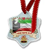 Add Your Own Custom Name, Kuwait 3D Flag Christmas Ornament NEONBLOND