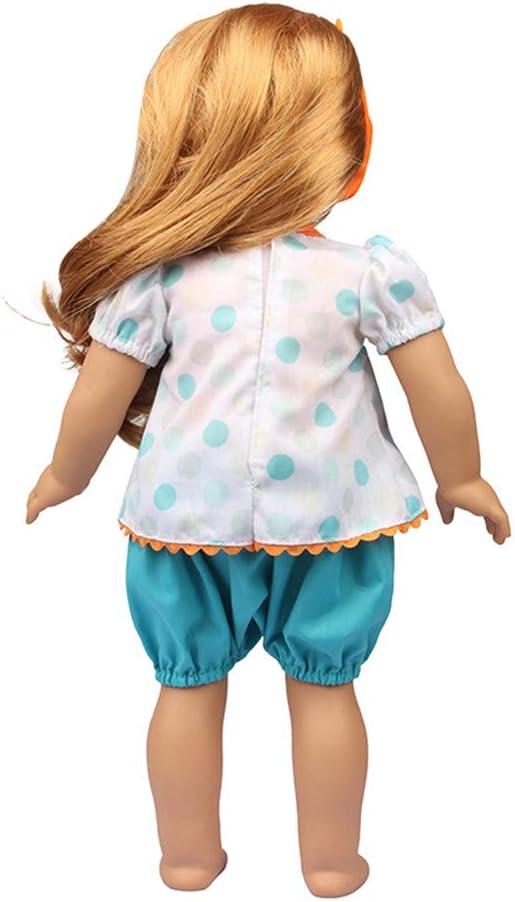 Vestiti per bambole americane da 46 cm Uteruik abbigliamento casual