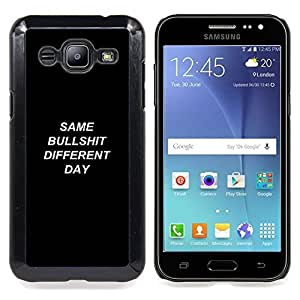 "Qstar Arte & diseño plástico duro Fundas Cover Cubre Hard Case Cover para Samsung Galaxy J2 / J200 (Mismo diverso día Bullshit - Demotivational"")"