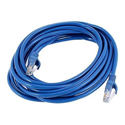 eDealMax 5M 16 pies RJ45 8P8C Macho a un Cable de línea del adaptador Masculino de