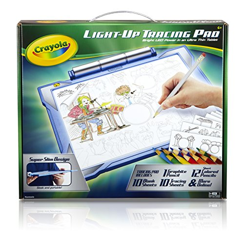 Crayola Light-up Tracing Pad Blue, Coloring Board for Kids, Gift, Toys for Boys, Ages 6, 7, 8, 9, - Boy 14 Gifts Year Old