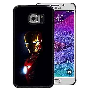 Snap-on Series Teléfono Carcasa Funda Case Caso para Samsung Galaxy S6 EDGE , ( Iron Superhero )