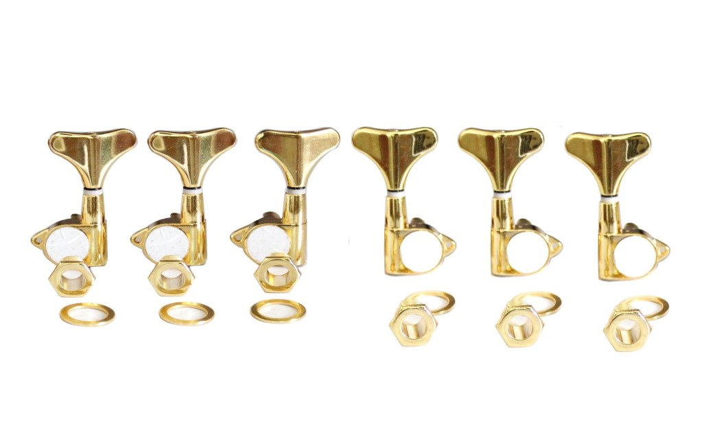 Surfing Gold 6pcs 3L3R Sealed Bass Guitar Machine Heads Tuner Tuning Pegs