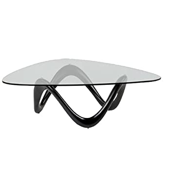 Designetsamaison Table Basse de Salon Noire - Niagara: Amazon.fr ...