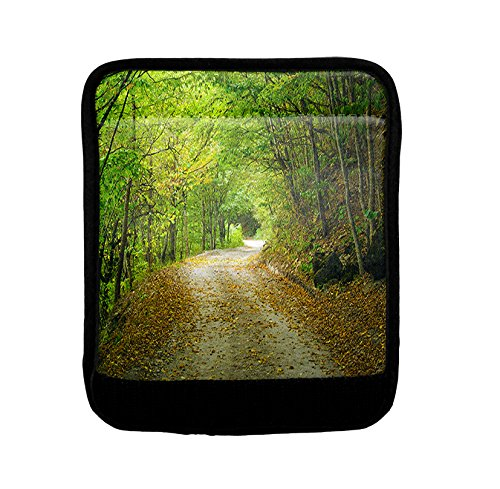 Road In The Woods Luggage Handle Wrap Finder