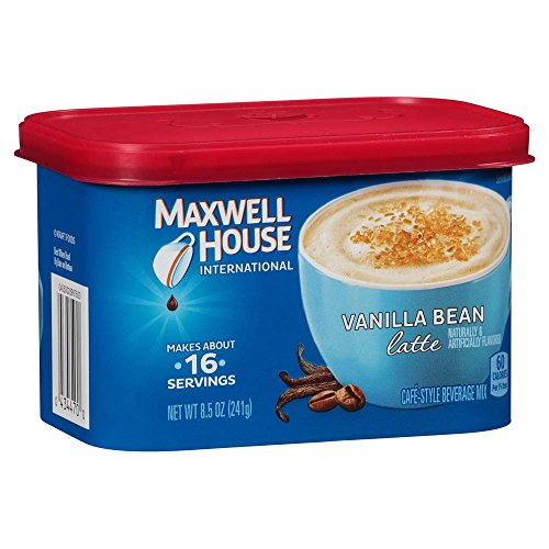 Maxwell House International Cafe Flavored Instant Coffee, Vanilla Bean Latte, 8.5 Ounce Canister