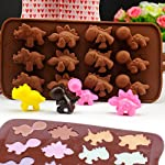 IHUIXINHE Food Grade Silicone Mold, Non-stick Ice Cube Mold, Jelly, Biscuits, Chocolate, Candy, Cupcake Baking Mould, Muffin pan 13 High-quality material: Made of 100% food grade silicone, FDA approved, heat resistant, BPA free. Ovenproof and Freeze-proof: Temperature Safe from -40 to +446 degrees Fahrenheit (-40 to +230 degrees Celsius). You can put them in the microwave, oven, refrigerator, freezer and dishwasher. Multi-functional: These versatile molds not only can be used for making chocolates, but also cakes, mousse, jelly, pudding, frozen yogurt treats, ice cubes with fruit juice, cake decorations, etc can all be made with this one silicone mold. You can make treats for your kids or pets.