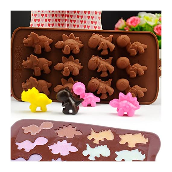 IHUIXINHE Food Grade Silicone Mold, Non-stick Ice Cube Mold, Jelly, Biscuits, Chocolate, Candy, Cupcake Baking Mould, Muffin pan 6 High-quality material: Made of 100% food grade silicone, FDA approved, heat resistant, BPA free. Ovenproof and Freeze-proof: Temperature Safe from -40 to +446 degrees Fahrenheit (-40 to +230 degrees Celsius). You can put them in the microwave, oven, refrigerator, freezer and dishwasher. Multi-functional: These versatile molds not only can be used for making chocolates, but also cakes, mousse, jelly, pudding, frozen yogurt treats, ice cubes with fruit juice, cake decorations, etc can all be made with this one silicone mold. You can make treats for your kids or pets.