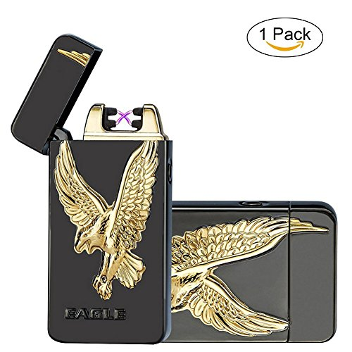 USB Electronic Cigarette Lighter (Black) - 2